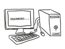 Illustration of computer Royalty Free Stock Photo