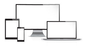 Illustration of computing devices Royalty Free Stock Image
