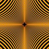 Illustration of concentric curves in a diamond shaped pattern. Abstract line illustration of a yellow and orange gradient in a curved diamond shaped pattern Vector Illustration