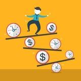 Illustration concept of balance. Flat design vector illustration concept of balance Stock Photo