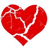 Broken heart icon. Illustration of the concept broken heart symbol Stock Photo