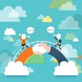 Illustration concept of communication bridge Stock Photos