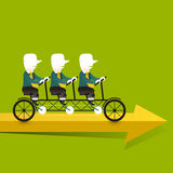 Illustration concept of cooperation triplets Stock Images