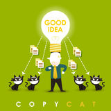 Illustration concept of copycat. Flat design vector illustration concept of copycat Stock Photo