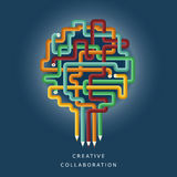Illustration concept of creative collaboration Royalty Free Stock Photos
