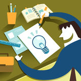 Illustration concept of creative inspiration Stock Photography