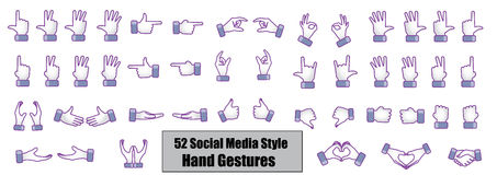 Illustration concept of 52 Different Social Media  Royalty Free Stock Image