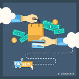 Illustration concept of e-commerce Stock Photos