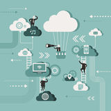 Illustration concept of explore cloud network vector illustration