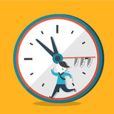 Illustration concept of hurry up Stock Image