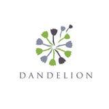 Illustration of concept logo of dandelion. Stock Photography