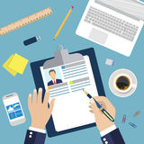 Illustration Concept of Resume Writing, Stock Photos