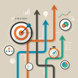 Illustration concept for strategy Stock Photography