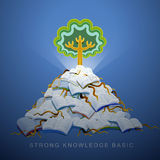 Illustration concept of strong knowledge basic Stock Images