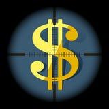 Illustration concept of targeting money Stock Photos