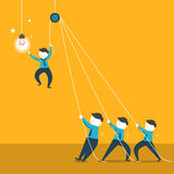 Illustration concept of team work Royalty Free Stock Image