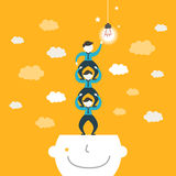 Illustration concept of team work Royalty Free Stock Images