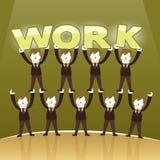 Illustration concept of team work Stock Photo