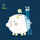 Illustration concept of time is money Stock Photo