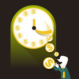 Illustration concept of time is money Royalty Free Stock Photo