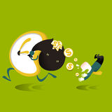 Illustration concept of time is money Royalty Free Stock Photography
