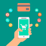 Illustration concepts of online payment methods Royalty Free Stock Photography