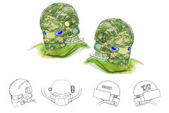 Illustration of conceptual future helmet Royalty Free Stock Photography