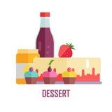 Illustration conceptuelle de bannière de vecteur de dessert Photographie stock