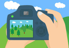 Illustration conceptuelle de photographie de paysage Image libre de droits