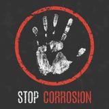 Illustration conceptuelle de vecteur Arrêtez la corrosion illustration de vecteur