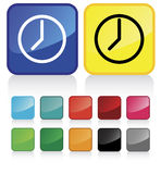 Illustration conceptuelle de vecteur d'horloge Image libre de droits
