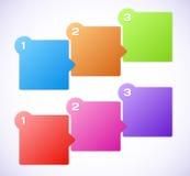 Illustration conceptuelle de vecteur des cubes colorés Image libre de droits