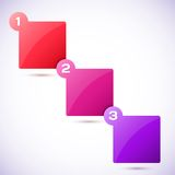 Illustration conceptuelle de vecteur des cubes colorés Photographie stock