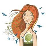 Illustration conceptuelle : unité avec la nature Photos stock