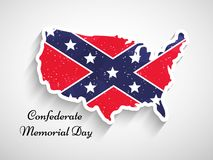 Illustration of Confederate Memorial Day background. Illustration of elements of Confederate Memorial Day background Royalty Free Stock Photo