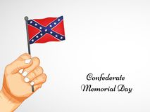 Illustration of Confederate Memorial Day background. Illustration of elements of Confederate Memorial Day background Royalty Free Stock Images