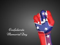 Illustration of Confederate Memorial Day background. Illustration of elements of Confederate Memorial Day background Royalty Free Stock Photography