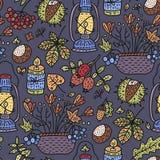 Illustration confortable de vecteur de chute Illustration détaillée de griffonnage d'automne illustration libre de droits