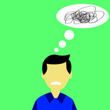 Illustration for Confuse or stress Man Stock Image