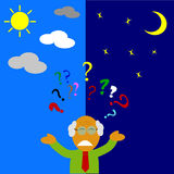 Illustration for Confuse or stress Man Royalty Free Stock Image