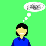 Illustration for Confuse or stress Woman Stock Photos