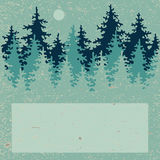 Illustration of coniferous forest with a place for Royalty Free Stock Photos