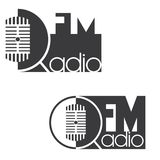 an illustration consisting of two different images of a radio station Stock Photography