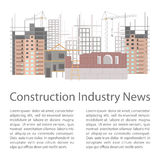 Illustration of construction site Stock Photography