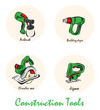Illustration of construction tools Royalty Free Stock Image