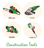Illustration of construction tools Stock Images