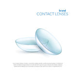 Illustration of contact lenses. Royalty Free Stock Images