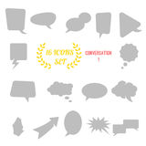 Illustration of conversation / speech bubbles icon set on white Stock Images