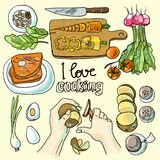 Illustration of cooking Stock Photos