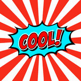 Illustration Cool in comic stile on flat design Royalty Free Stock Photos